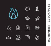 gas icons set. plant and gas...