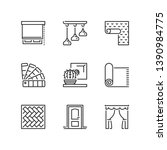 outline icons about home decor. ...   Shutterstock .eps vector #1390984775