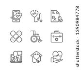outline icons about medicine.... | Shutterstock .eps vector #1390984778