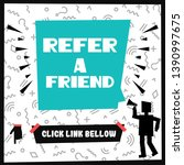 character saying refer a friend....