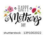 elegant banner happy mothers... | Shutterstock . vector #1391002022