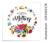 elegant lettering happy mothers ... | Shutterstock . vector #1391002178