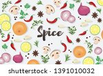 spice and vegetable foods... | Shutterstock .eps vector #1391010032