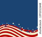 american flag patriotic... | Shutterstock .eps vector #1391012648