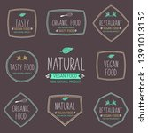 set of labels and stickers for... | Shutterstock .eps vector #1391013152