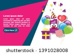 1st year celebration design... | Shutterstock .eps vector #1391028008