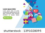 1st year celebration design... | Shutterstock .eps vector #1391028095