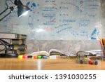 colorful equipment class with... | Shutterstock . vector #1391030255