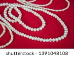 beautiful white pearl necklaces ... | Shutterstock . vector #1391048108