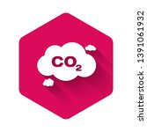 white co2 emissions in cloud... | Shutterstock .eps vector #1391061932