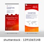 vertical roll up banner  ... | Shutterstock .eps vector #1391065148