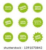 organic logo icon set  healthy... | Shutterstock .eps vector #1391070842