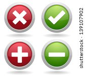 red and green homepage buttons | Shutterstock .eps vector #139107902
