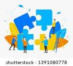 teamwork. business concept.... | Shutterstock .eps vector #1391080778