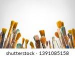 kids artists paint brushes...   Shutterstock . vector #1391085158