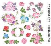 mega set collection of...   Shutterstock .eps vector #1391086622