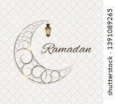 background for muslim community ... | Shutterstock .eps vector #1391089265