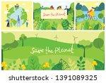 vector illustration eco... | Shutterstock .eps vector #1391089325