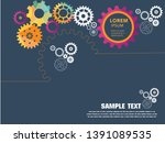 abstract techno gear background ... | Shutterstock .eps vector #1391089535