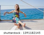 beautiful teenager young woman...   Shutterstock . vector #1391182145