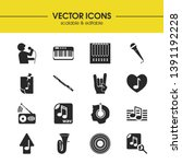 melody icons set with tuba ... | Shutterstock .eps vector #1391192228