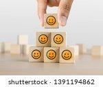 positive attitude  customer... | Shutterstock . vector #1391194862