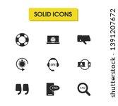 service icons set with lifebuoy ...