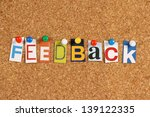 the word feedback in cut out... | Shutterstock . vector #139122335