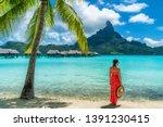 bora bora luxury hotel vacation ... | Shutterstock . vector #1391230415