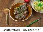 braised rabbit with belgian ale ...   Shutterstock . vector #1391236715