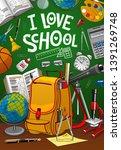 back to school  student bag...   Shutterstock .eps vector #1391269748