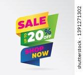 vector sale banner template... | Shutterstock .eps vector #1391271302