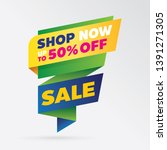 vector sale banner template... | Shutterstock .eps vector #1391271305