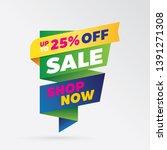 vector sale banner template... | Shutterstock .eps vector #1391271308