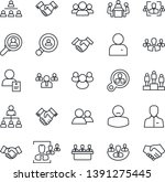 thin line icon set   handshake... | Shutterstock .eps vector #1391275445