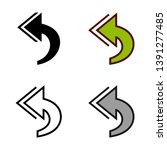 reply all icon in different...   Shutterstock .eps vector #1391277485