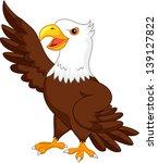 eagle cartoon waving | Shutterstock . vector #139127822