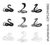vector illustration of mammal... | Shutterstock .eps vector #1391294882