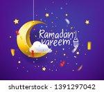 ramadan kareem concept. vector... | Shutterstock .eps vector #1391297042