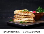 american hot cheese sandwich.... | Shutterstock . vector #1391319905