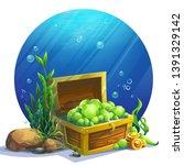 vector illustration open chest... | Shutterstock .eps vector #1391329142