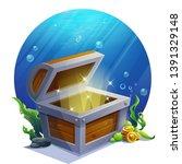 vector illustration open empty... | Shutterstock .eps vector #1391329148