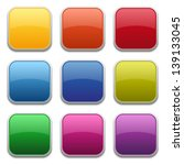 colorful glossy square buttons | Shutterstock .eps vector #139133045