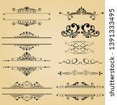classic element vintage vector... | Shutterstock .eps vector #1391333495
