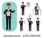 set of working people on white... | Shutterstock .eps vector #1391336435