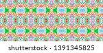 mexican seamless pattern.... | Shutterstock . vector #1391345825