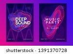 techno event. dynamic gradient... | Shutterstock .eps vector #1391370728