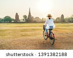 young female weared light... | Shutterstock . vector #1391382188