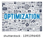 optimization   illustration...   Shutterstock .eps vector #1391396405