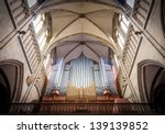 Great Pipe Organ Under Arched...